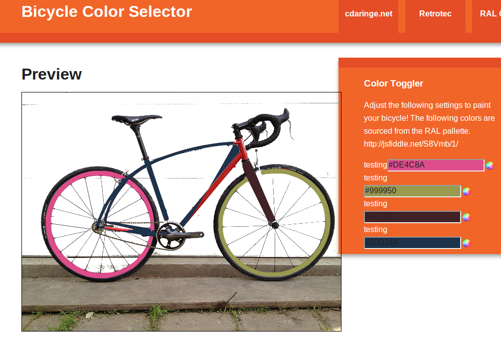 Bike Color Chooser!